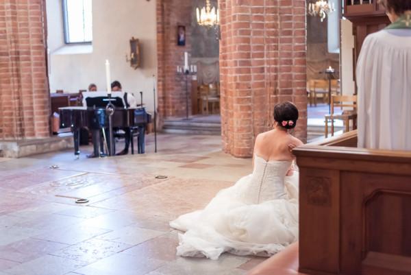 Bröllopsfoto Uppsala Helga Trefaldighets kyrka