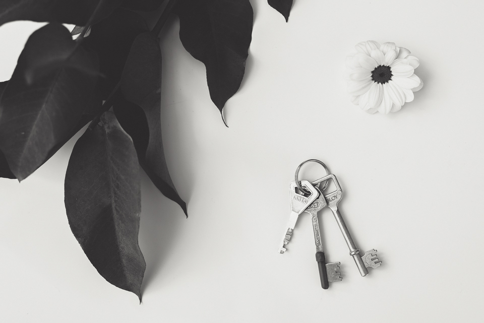 Nycklarna till vår fotostudio i centrala uppsala